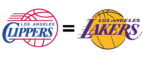 Logo similarities  Lakers and Clippers  Straight Dope Message Board