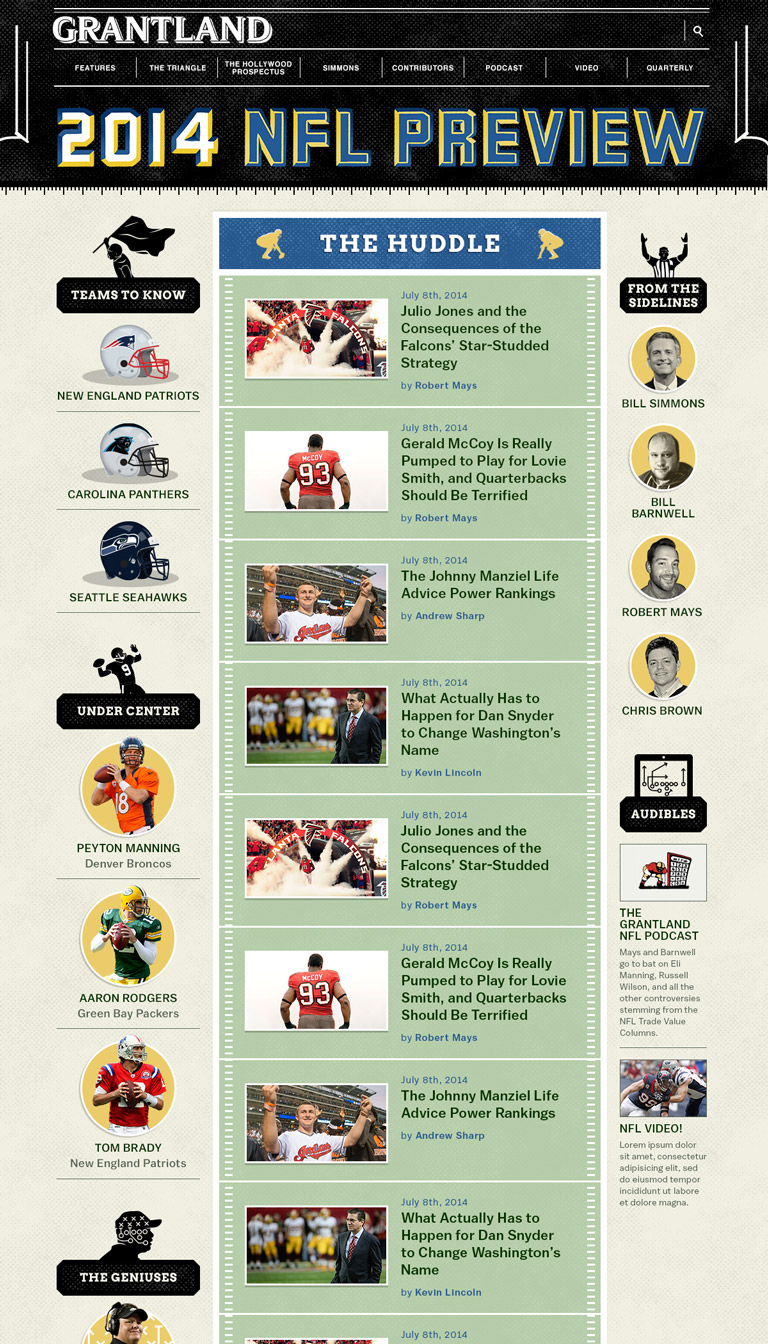 Grantland - NFL Preview page