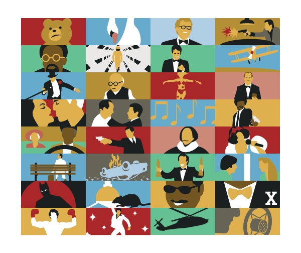 Grantland - Oscar Travesties - illustrations