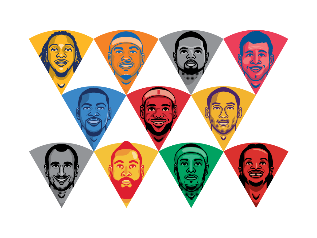 Grantland - NBA Trade Value illustrations
