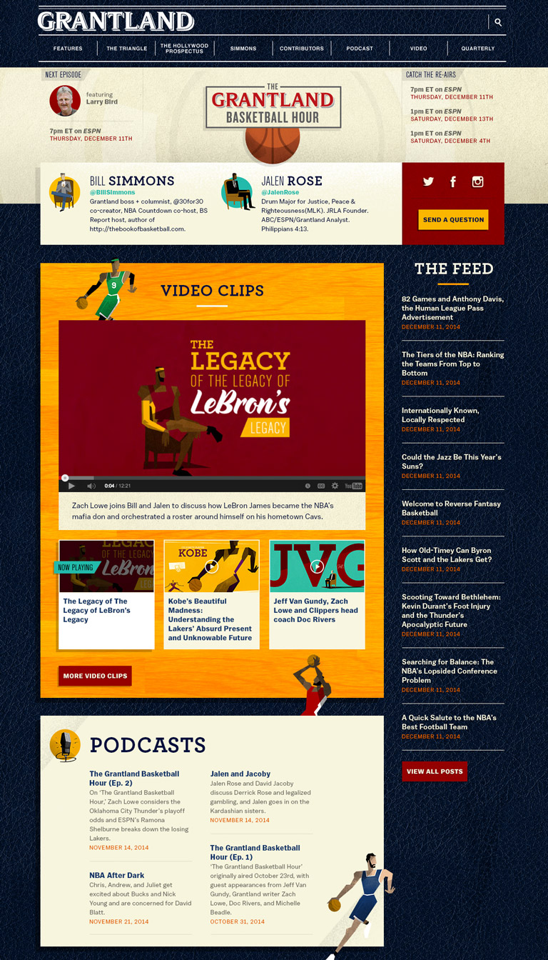 The Grantland Basketball Hour - landing page