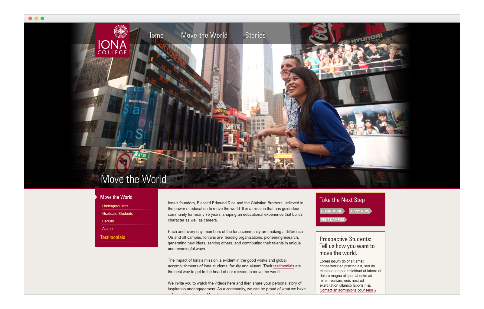 Iona Microsite - Move the World - browser