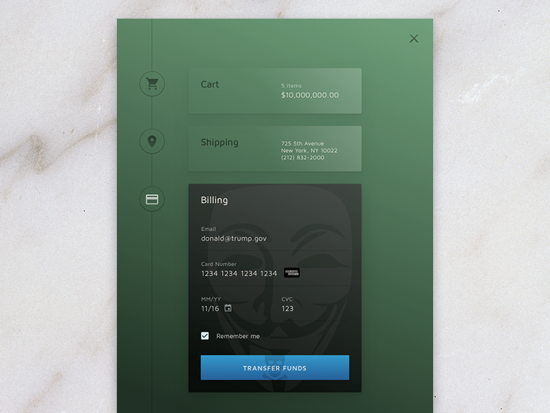 Daily UI Day 2 - Credit Card Checkout