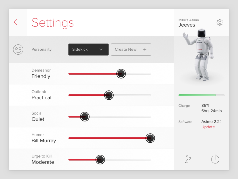Daily UI Day 7 - Settings