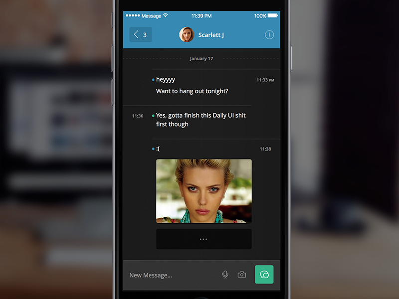 Daily UI Day 13 - Direct Messaging