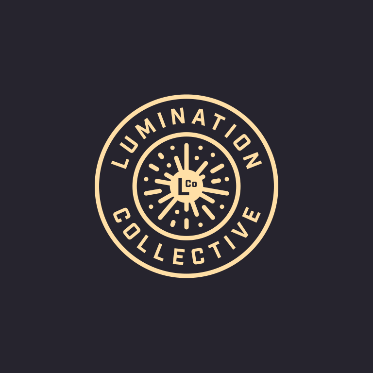 Lumination Collective logo - seal (dark)