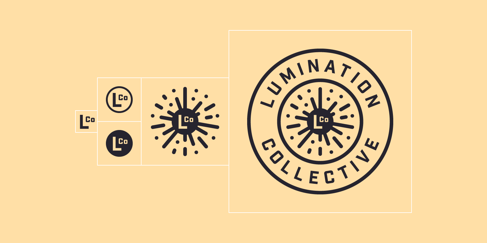 Lumination Collective logo variations