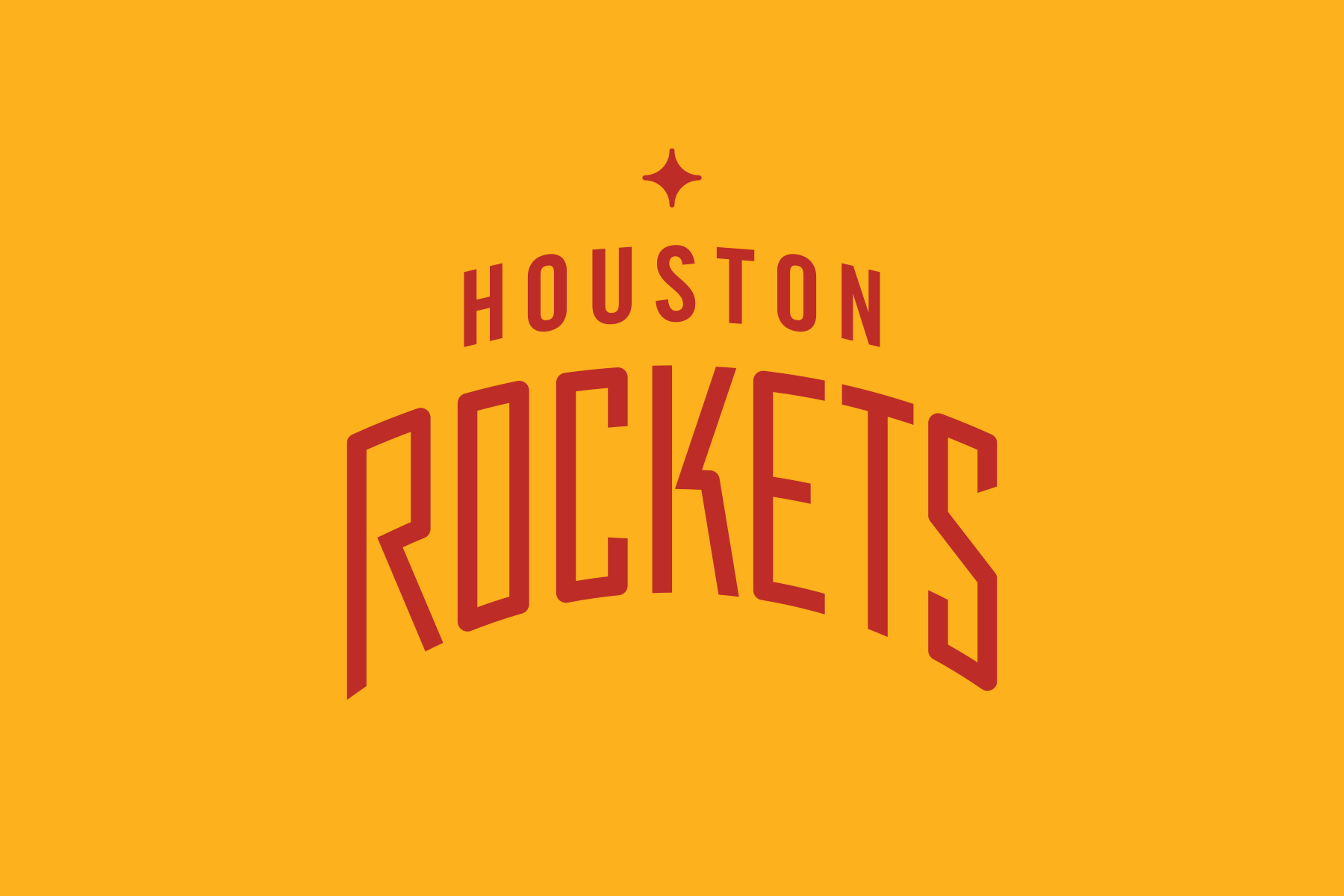 NBA Logo Redesigns: Houston Rockets - text lockup