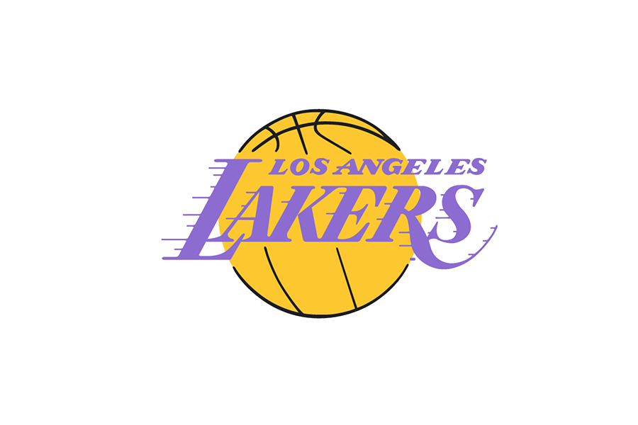 Los Angeles Lakers logo – 1976/77 – 2000/01