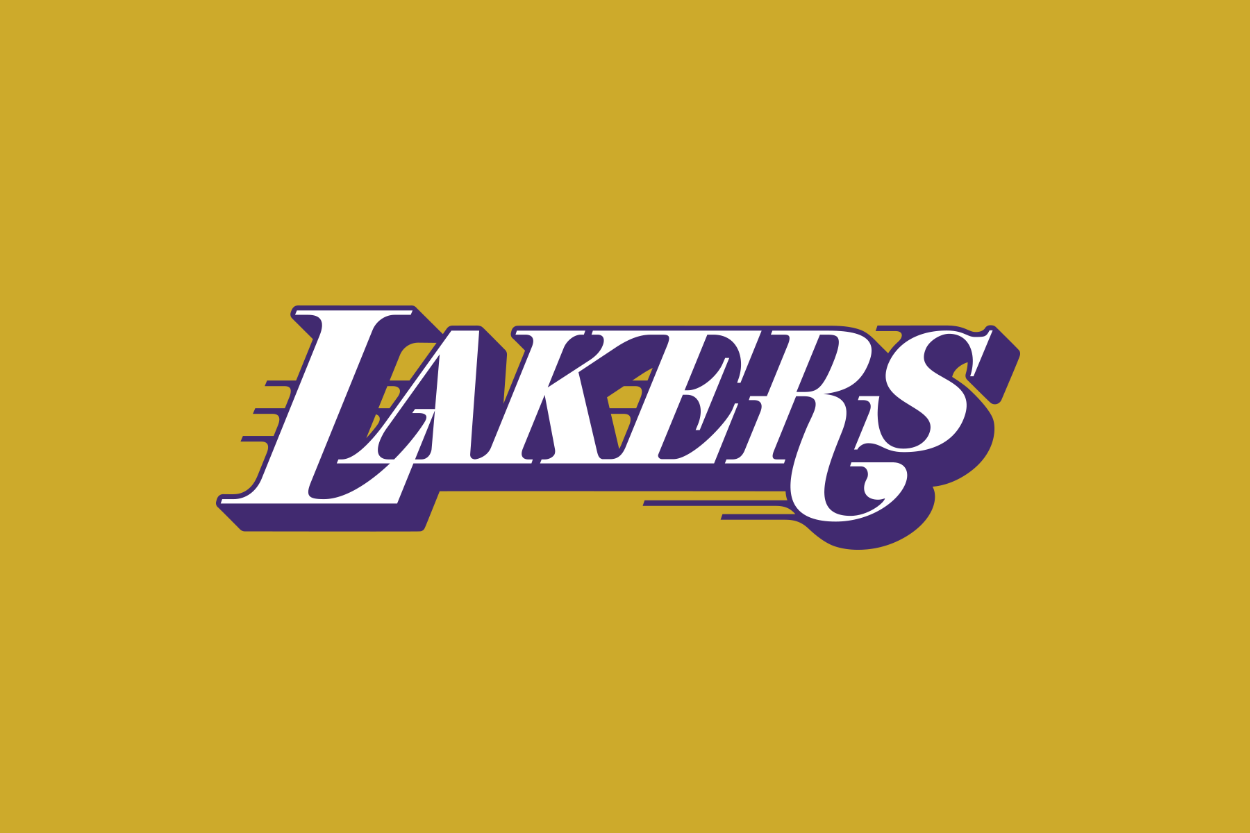 NBA Logo Redesigns: Los Angeles Lakers - text