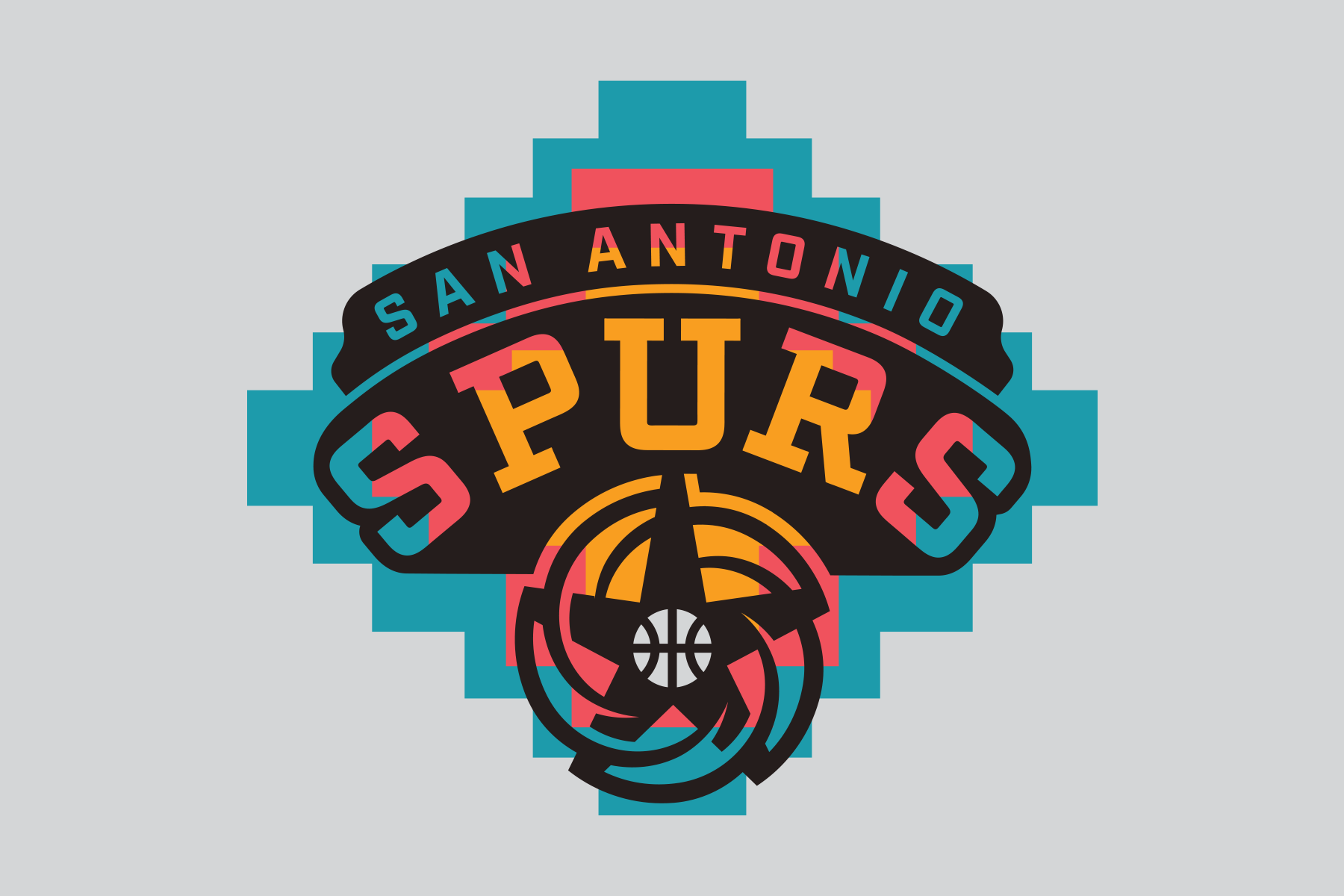 e53f4fcea9a NBA Logo Redesigns: San Antonio Spurs - fiesta colors ...