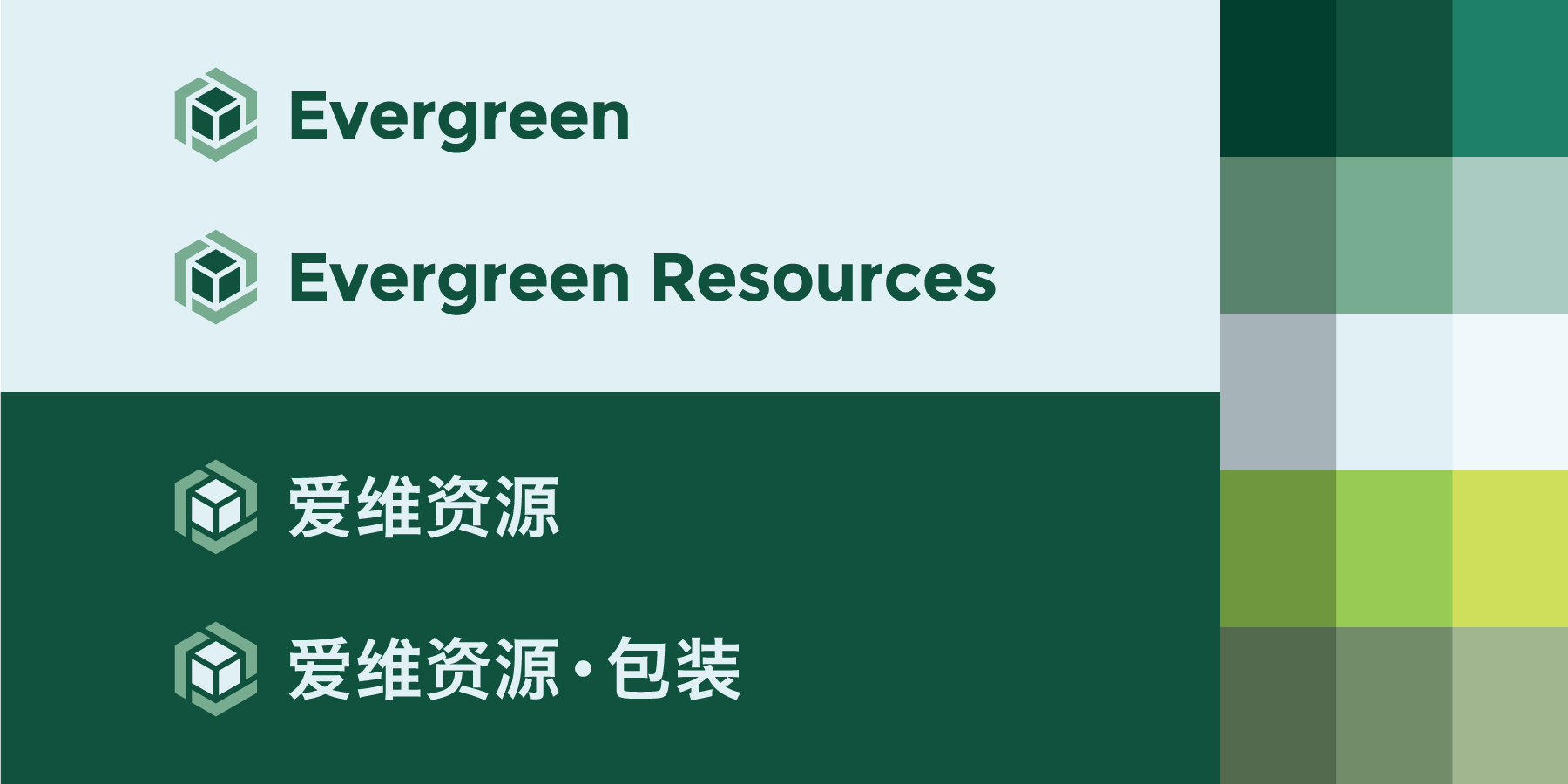 Evergreen Resources - logo variations